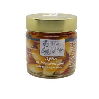 aglio al peperoncino in vasetto