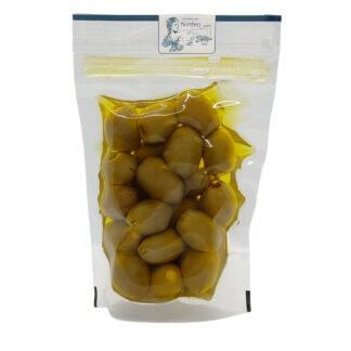 olive ripiene con mandorla in olio extravergine di oliva