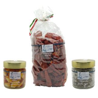 box per pomodori secchi sott'olio piccanti